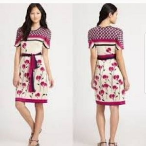 Tory Burch | Melba Poppy Print Floral Silk Dress